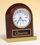 Rosewood Piano Finish Clock Achievement Award Trophies