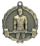 Wreath Male Weightlifting Medals All Trophy Awards