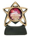 Star Resin Mylar Holder Dance Trophy Awards