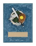 Softball Resin Plaque Mount Award Firefighter Trophy Awards