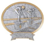 Legend Swimming Oval Award Oval Resin Trophy Awards