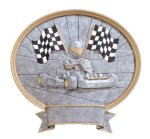 Legend Go-Kart Oval Award Oval Resin Trophy Awards