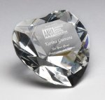 Corporate Crystal Heart Desk Accessory Paperweight Crystal Awards