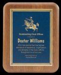 Plaque with Diamond Plate Award Patriotic Awards