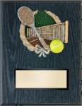 Tennis Resin Plaque Mount Award Police Trophy Awards